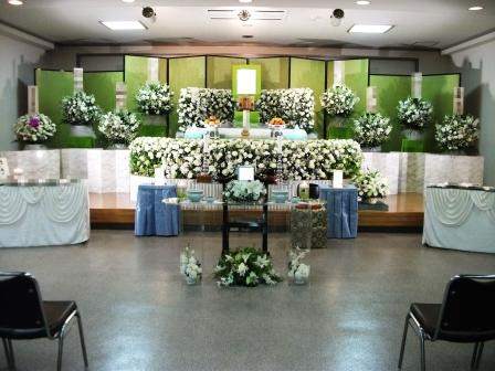 調布市の常念寺 栗平会館での葬儀実施例
