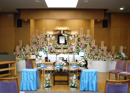 府中市の府中の森 市民聖苑での葬儀実施例