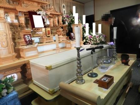 町田市の南多摩斎場【仏式(臨済宗)家族葬】葬儀実施例