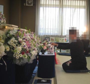 町田市の南多摩斎場【無宗教 家族葬】葬儀実施例