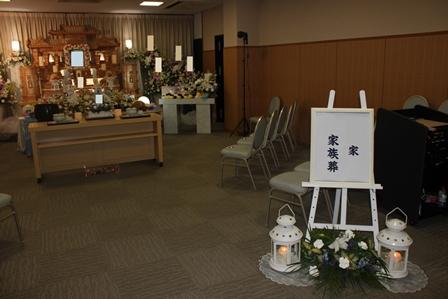 町田市の南多摩斎場【仏式(真言宗) 家族葬】葬儀実施例