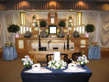 青梅市の青梅市民斎場での葬儀実施例