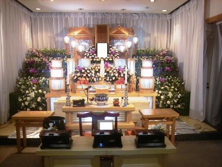 調布市のやすらぎ会館での葬儀実施例