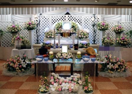 スペース品川 仏式(日蓮宗)家族葬の葬儀実施例