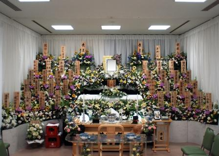調布市の堀ノ内斎場での葬儀実施例