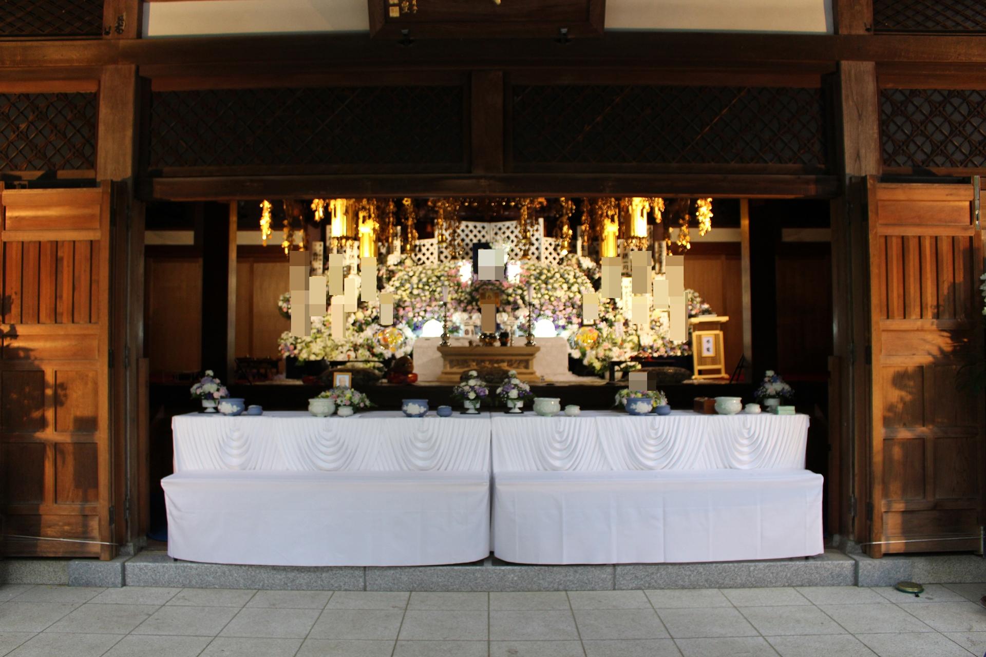 大正寺斎場の大型葬儀・通夜式