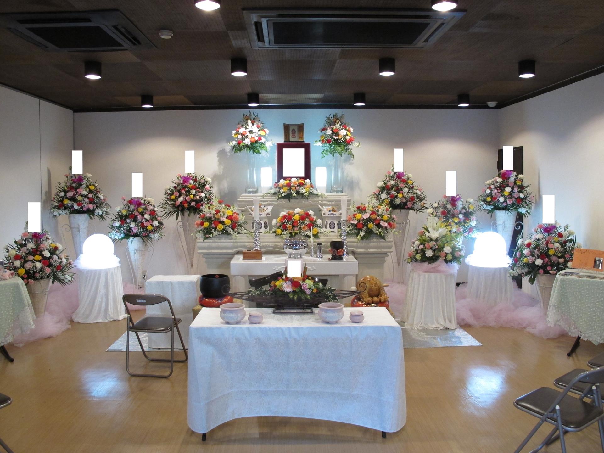大正寺斎場 花祭壇