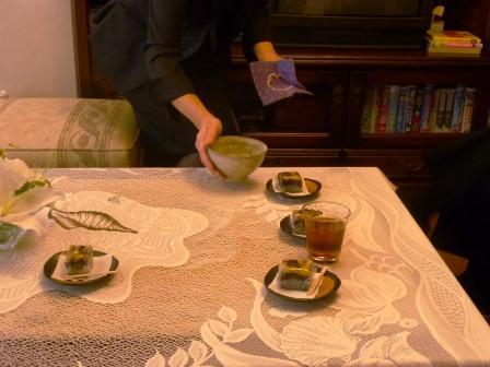フェアウェルプレイス・ディア抹茶と和菓子のおもてなし