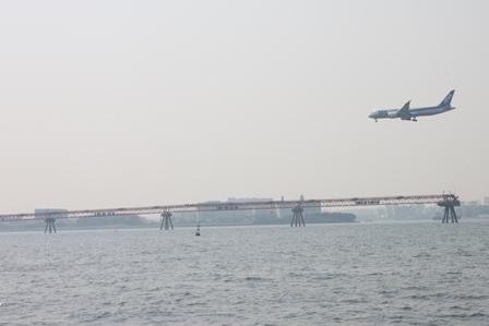 羽田沖飛行機