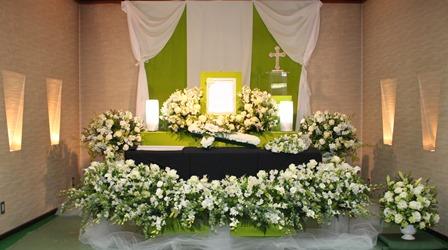 キリスト教式花祭壇