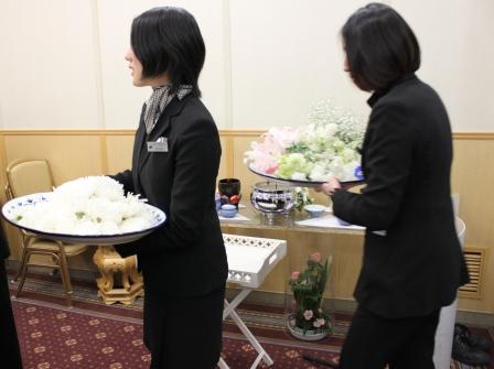 多磨葬祭場お別れ花