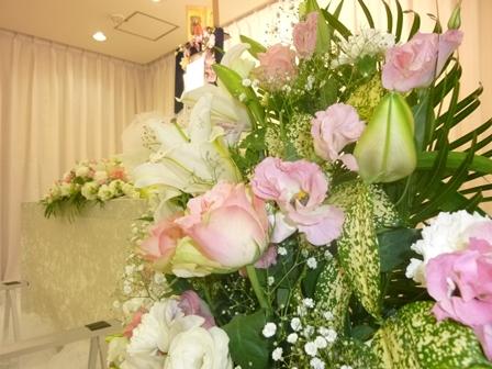 多摩斎場花飾り