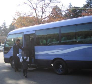 仙川斎場マイクロバス移動