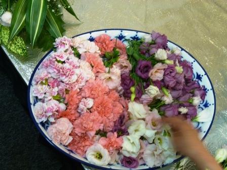 仙川斎場お別れ花