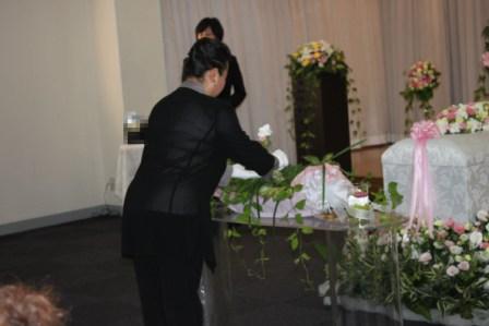 京王メモリアル調布祭壇の飾り