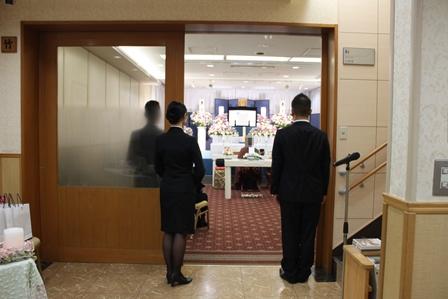 多磨葬祭場行華殿:フューネラルスタッフの対応