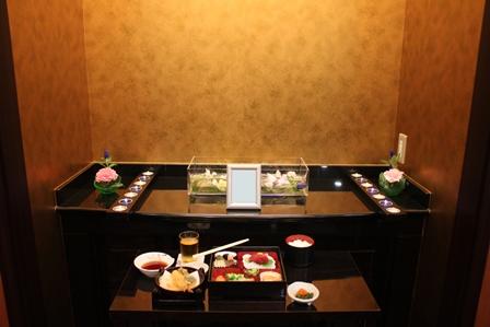 多磨葬祭場行華殿:故人のお食事