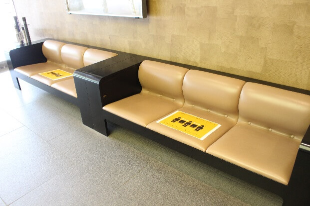 新型コロナ対策:座席のソーシャルディスタンス