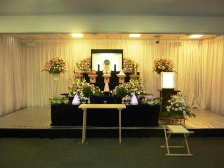 仙川斎場:神道花祭壇