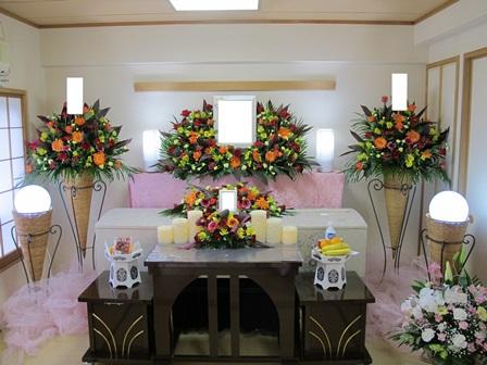 セレモリアル仙川斎場第二別院:無宗教花祭壇