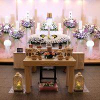 臨海斎場:仏式花祭壇