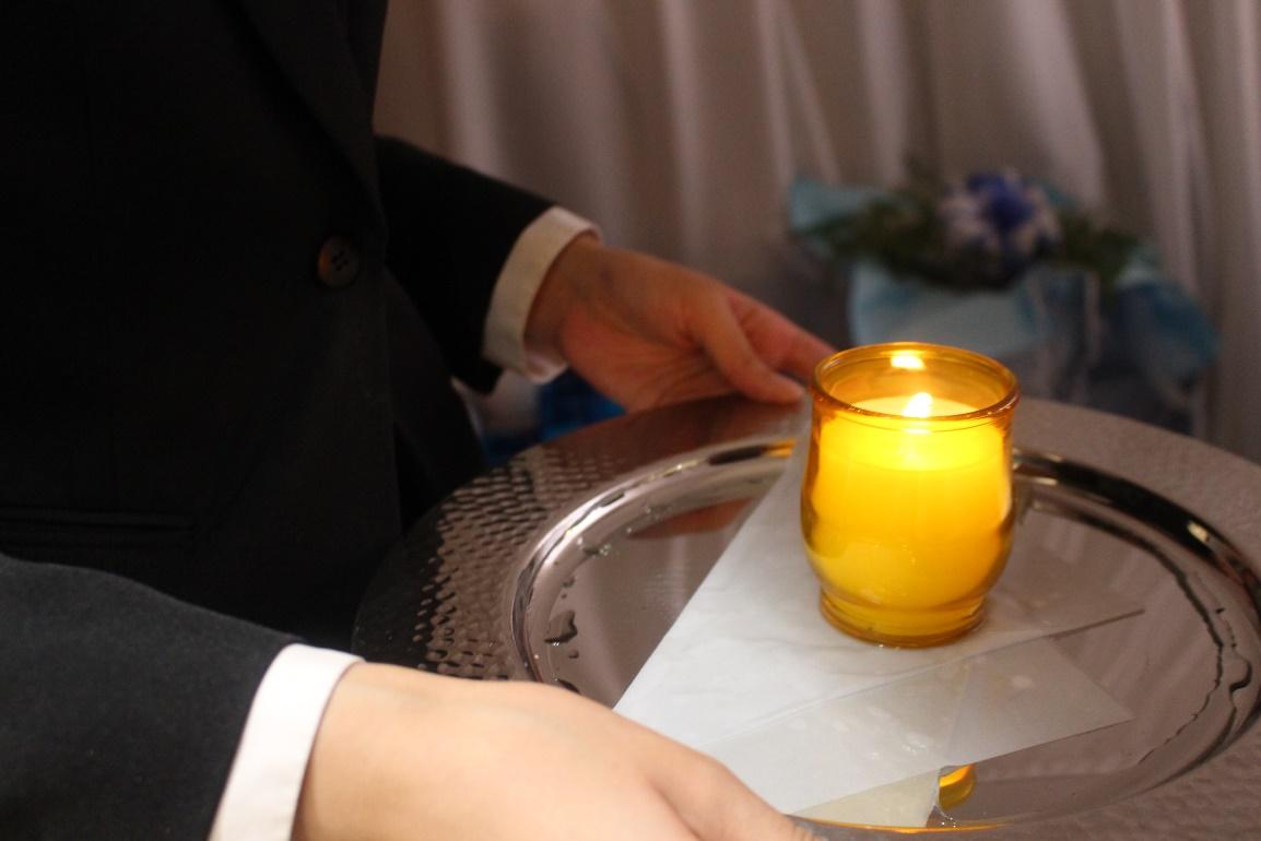 代々幡斎場:無宗教葬献灯