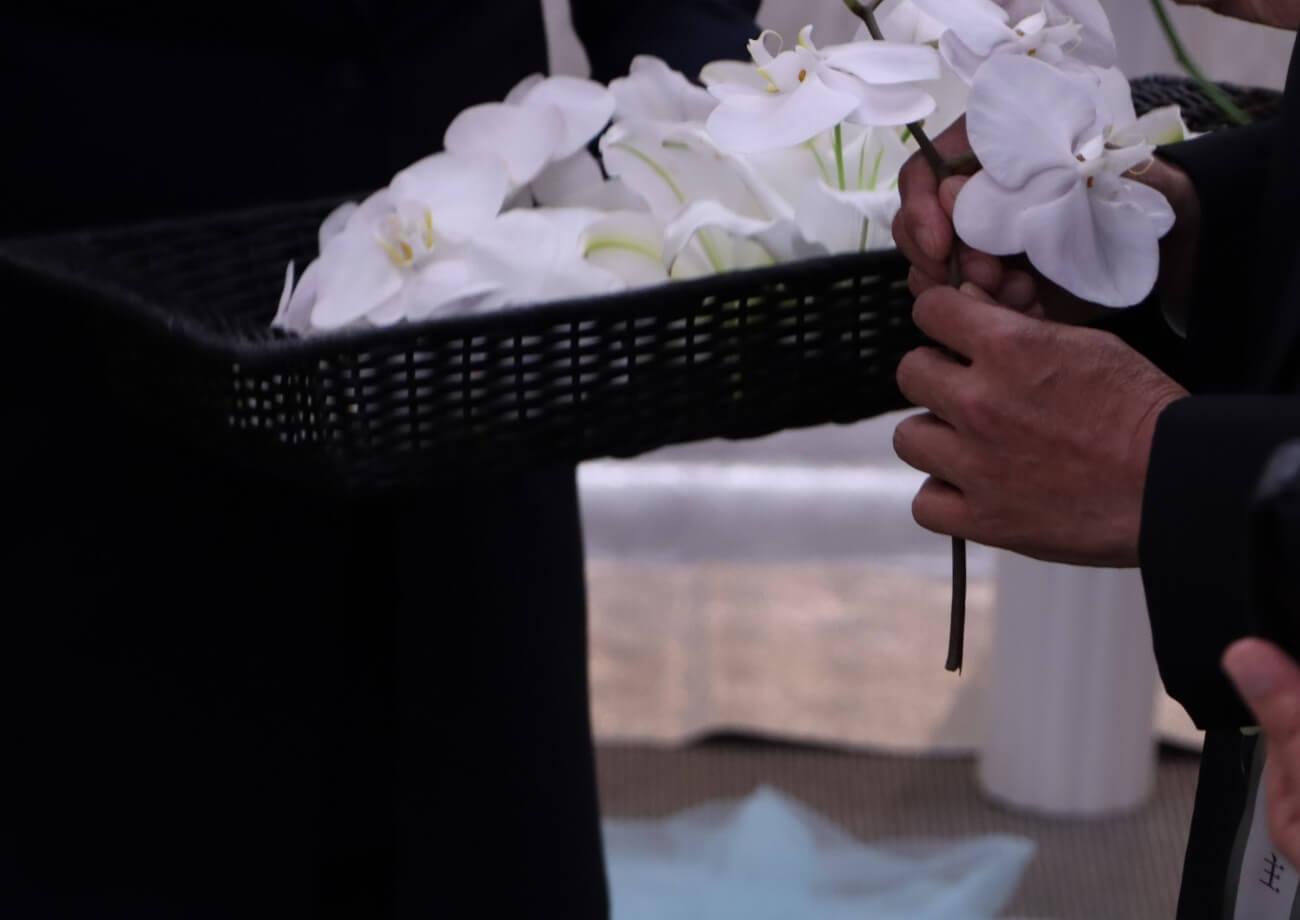 南多摩斎場第三式場:お別れ花