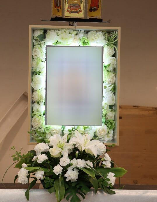家族葬プランオプション:電照額グリーン