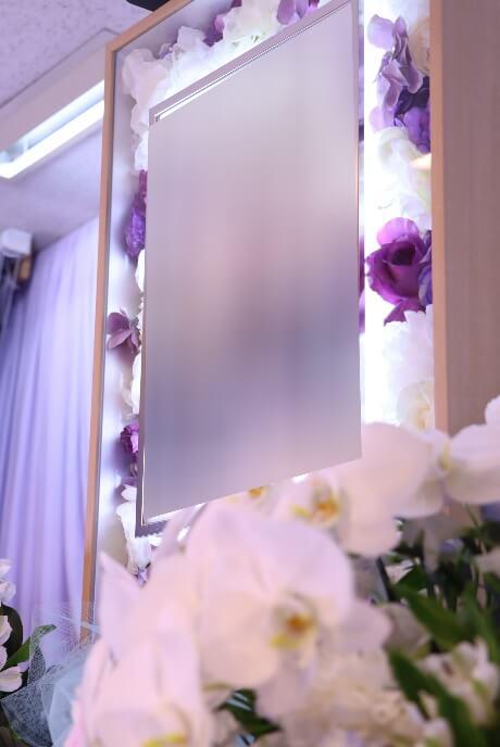 家族葬プランオプション:電照額紫