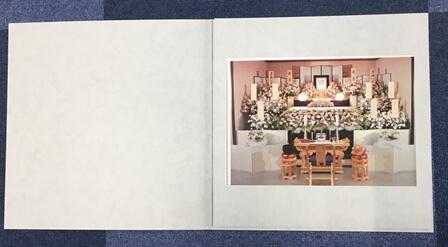 家族葬プランサービス:祭壇写真アルバム